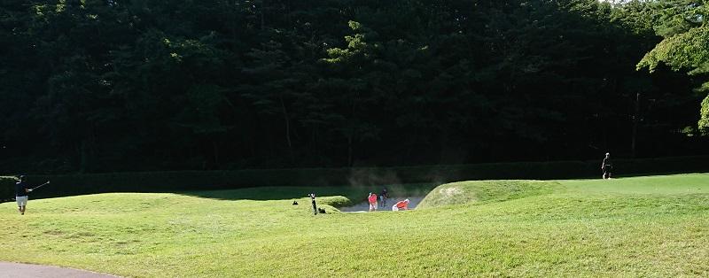 鳴沢ゴルフ倶楽部のアプローチ練習場