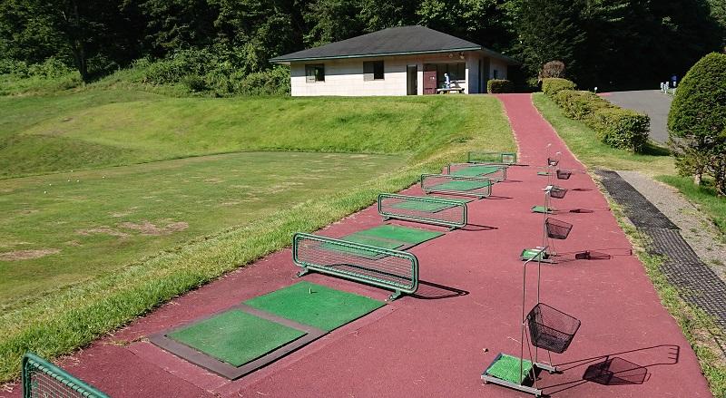 鳴沢ゴルフ倶楽部の練習場