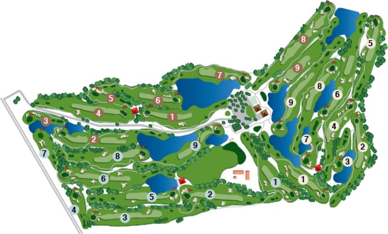 ハワイプリンスゴルフクラブ コース図